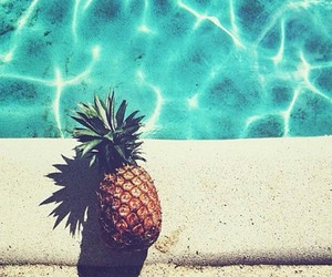 water, pineapple, and summer image