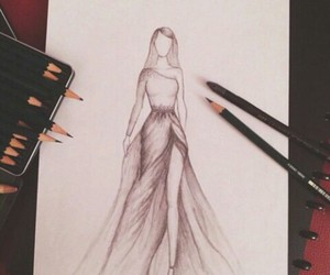 draw, mylove, and dress image