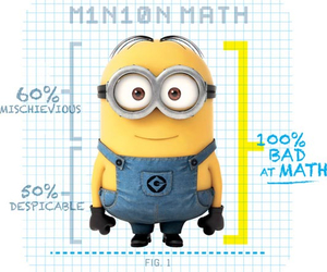 minions, math, and despicable me image