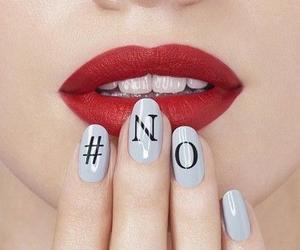 nails, no, and lipstick image