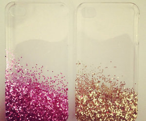 pink, glitter, and iphone image