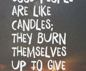 quotes, candle, and light image