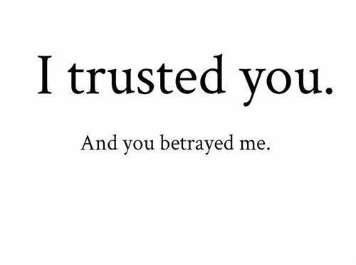 I trusted you. And you betrayed me on We Heart It