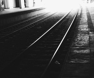 black, grunge, and train image