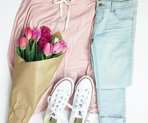 fashion, flowers, and girly image