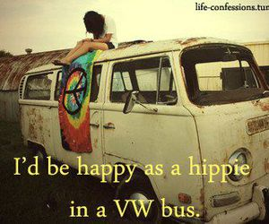 hippie, happinedd, and vwbus image