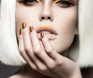 makeup, nails, and photography image