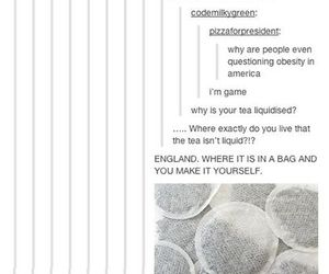 funny, tea, and tumblr image