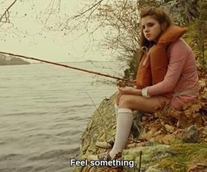 film, fishing, and girl image