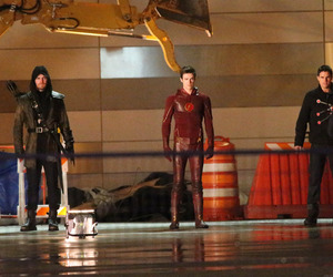 the flash, arrow, and oliver queen image