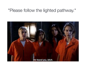 pretty little liars, funny, and lucy hale image