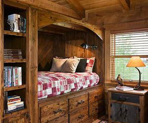wooden bedroom image