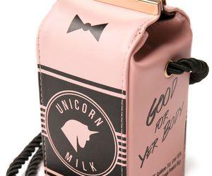 bag, pink, and unicorn image
