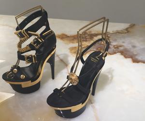heels, luxury, and Versace image