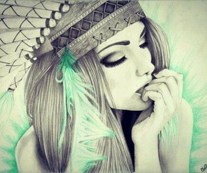 girl, pencil, and art image