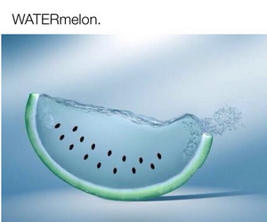 funny, water, and watermelon image
