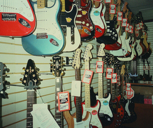 guitar, music, and rock image