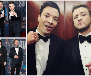 justin timberlake, jimmy fallon, and boy image
