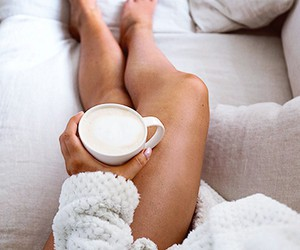 coffee and legs image