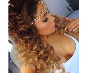 beautiful hair, curly hair, and hairstyles image