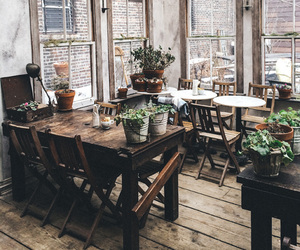cafe, decor, and rustic image