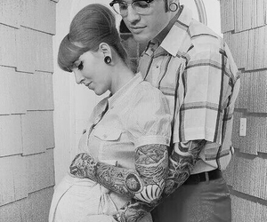 couple, tattoo, and pregnant image