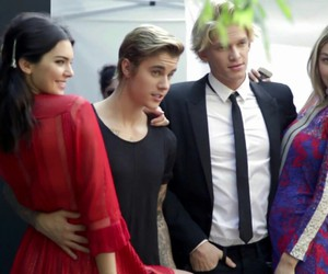 kendall jenner, justin bieber, and cody simpson image