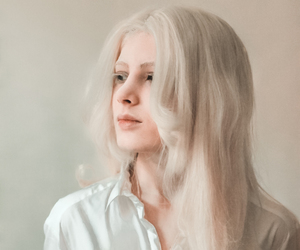 albino, girl, and white hair image