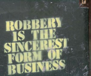 business, robbery, and street art image
