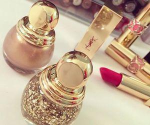 lipstick, make up, and YSL image