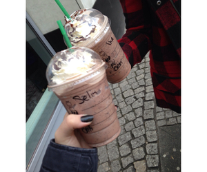 best friends, starbucks, and selin image