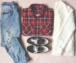 fashion, outfit, and vans image