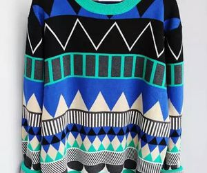 fashion, sweater, and blue image