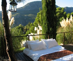 bed, nature, and relax image