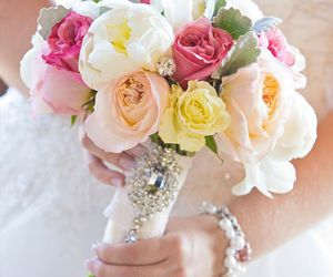 bouquet, beautiful, and bridal image
