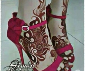arabic, mehndi, and foot henna image