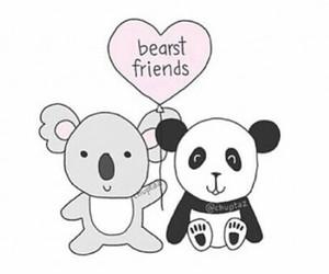 friends, panda, and cute image