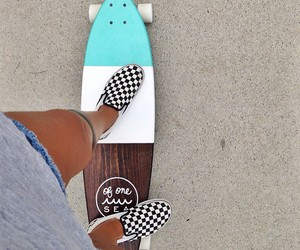 skate, summer, and girl image