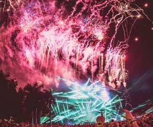 light, party, and fireworks image