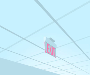 pastel, blue, and exit image