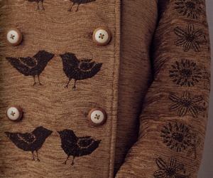 birds, embroidery, and flowers image