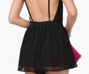 backless, black, and dress image