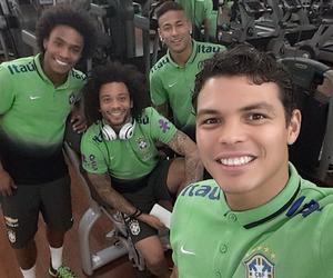 marcelo, neymar, and thiago silva image