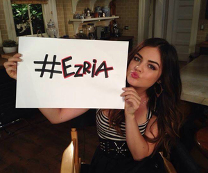 pretty little liars, ezria, and lucy hale image