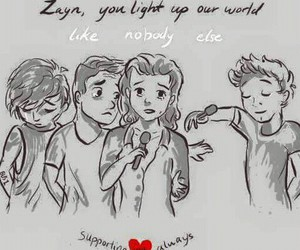zayn malik, directioners, and one direction image