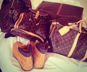 bag, timberland, and boots image