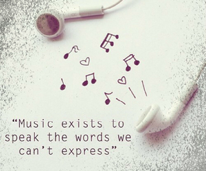 music, quote, and words image