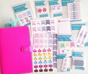 pastel, planner, and stickers image