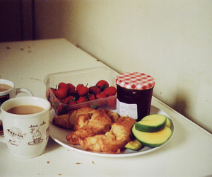 strawberry, coffee, and food image
