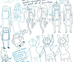characters, adventure time, and drawing tutorial image